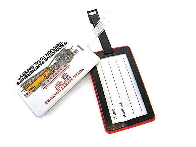 2D Soft Rubber - Luggage Tag