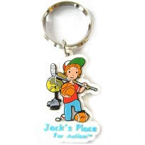 2-D Soft Rubber - Key Chain